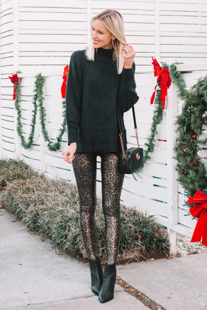 leopard leggings, how to style leopard leggings, how to dress up leggings