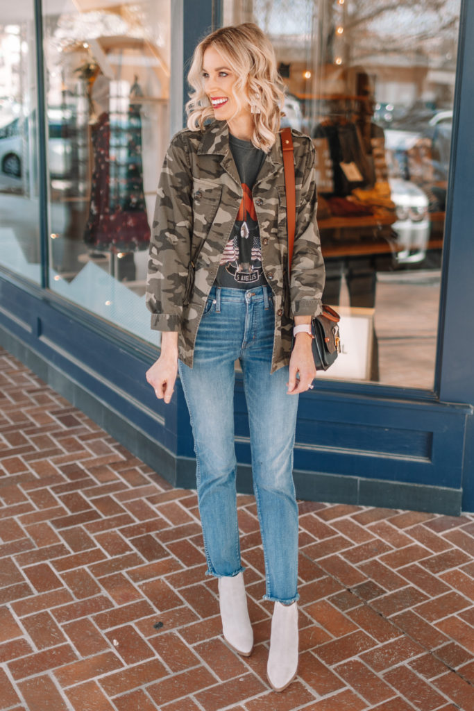 how to wear ankle boots with jeans, how to wear ankle boots with cropped jeans, how to wear ankle boots with straight leg jeans