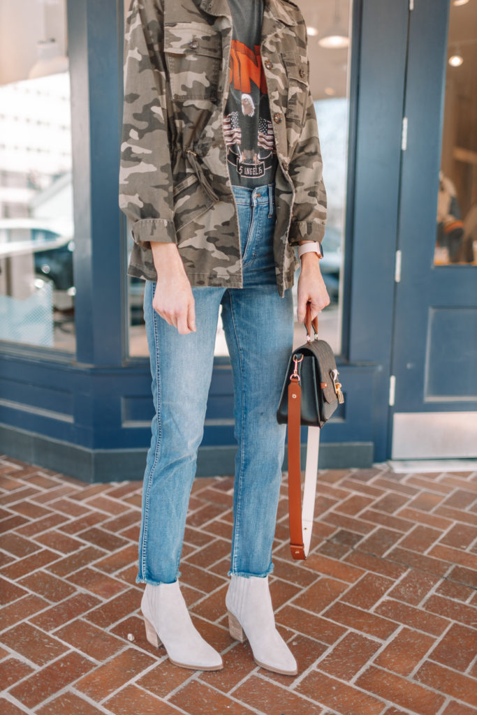 straight leg jeans and jacket
