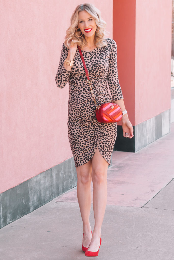 dress up a fitted dress, leopard dress with heels