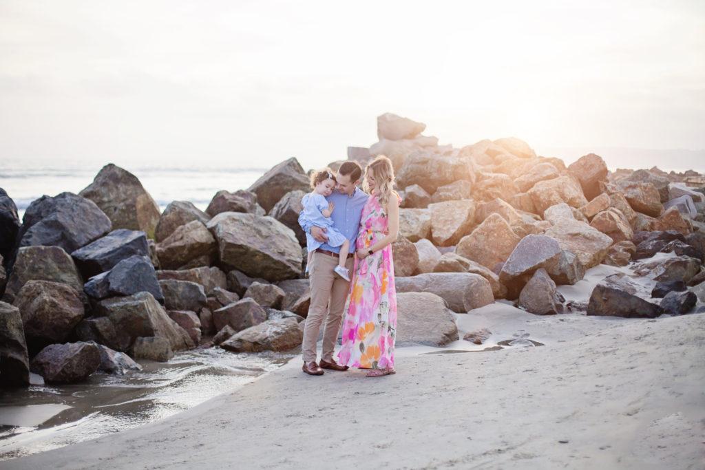 beach family photos, sunset beach photos