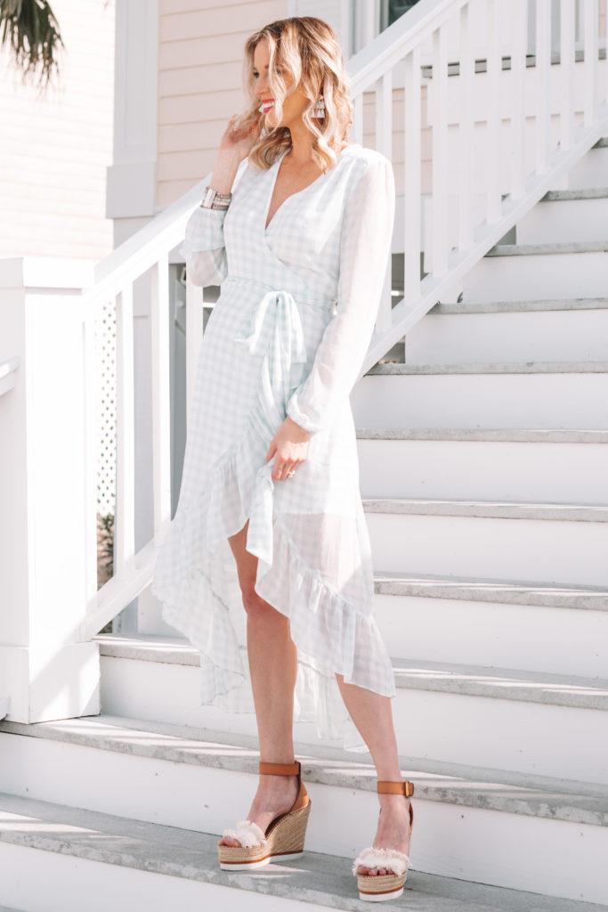 spring dress, gingham dress