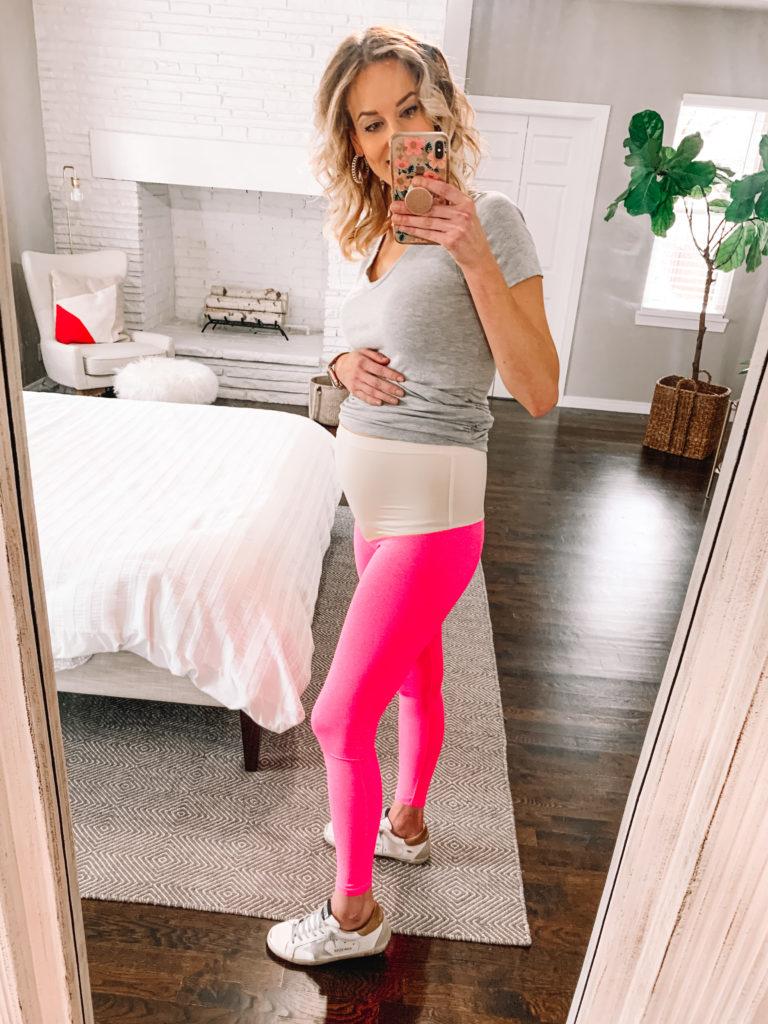pink maternity leggings, the ultimate maternity leggings review