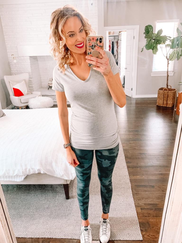 Zella camo maternity leggings