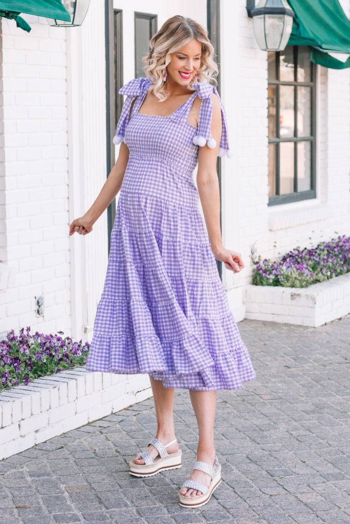 summer dress, sundress, gingham dress