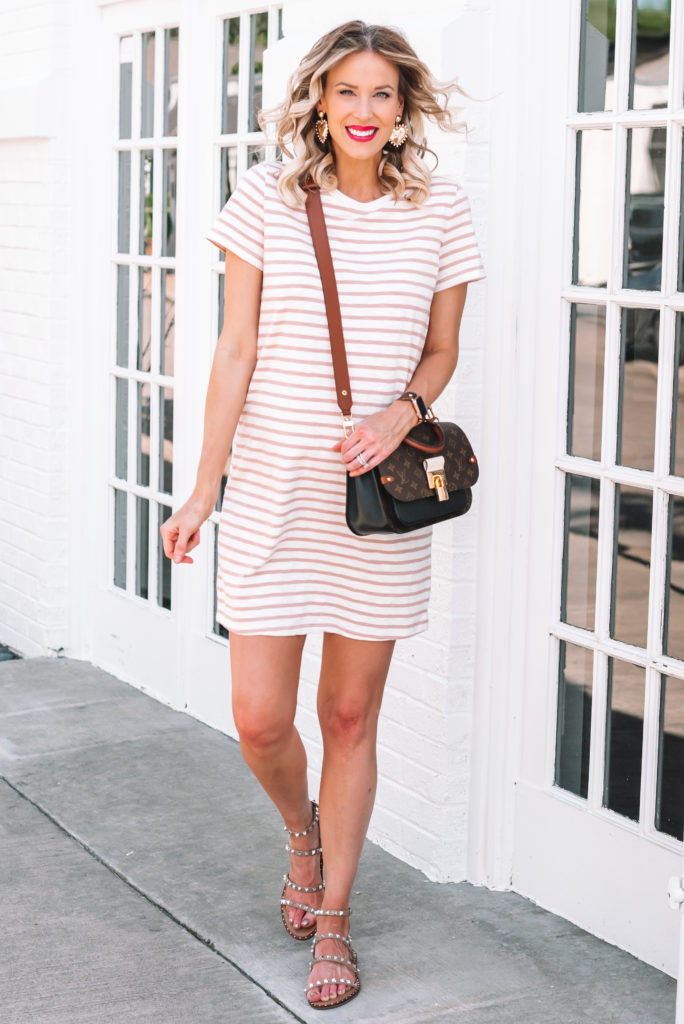 I love having a t-shirt dress in my closet as a casual alternative to shorts!