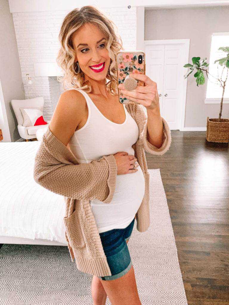 I love this super cozy Amazon cardigan for wearing at home and out. You can throw it on over anything!
