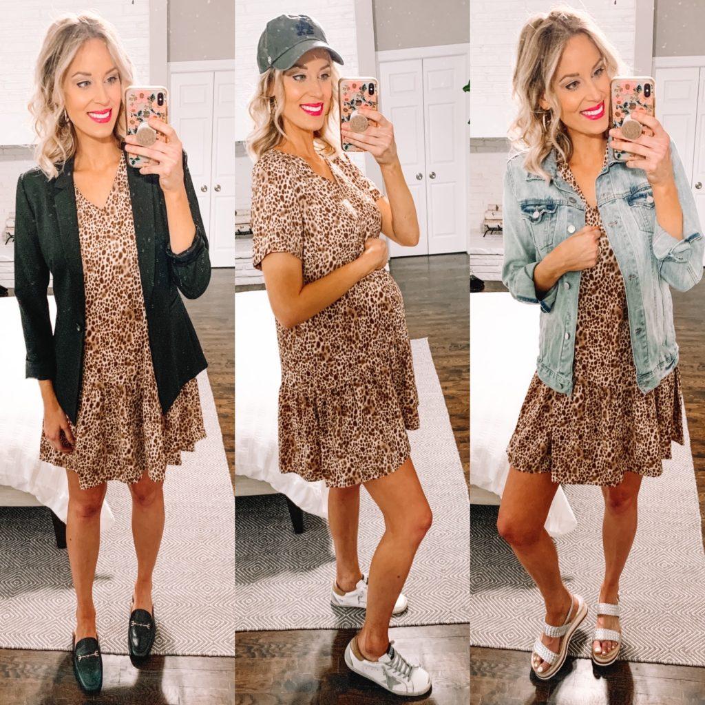 3 ways to style a leopard dress