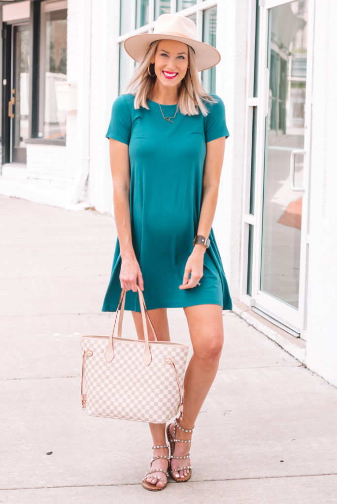 My jersey swing dress comes in a tank top version too as well as multiple color options. It's all you need for a cool and cute summer outfit.
