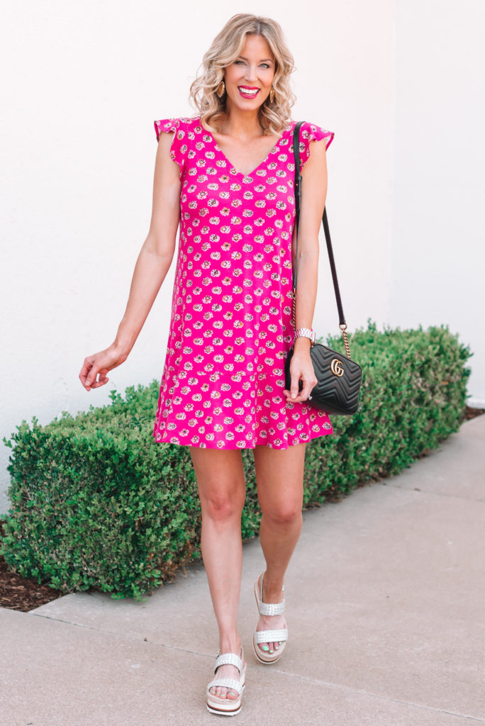 Loving this cute floral pink swing dress for summer!