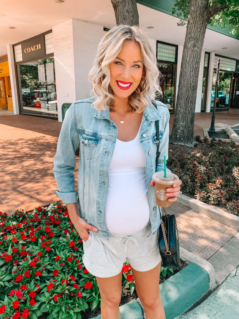 Today I am bringing you all my recent loungewear and athleisure favorites! I don't know about you, but I have been living in this type of thing more than ever with COVID plus being pregnant. I have SIX easy and affordable non-maternity pieces to share with you below!