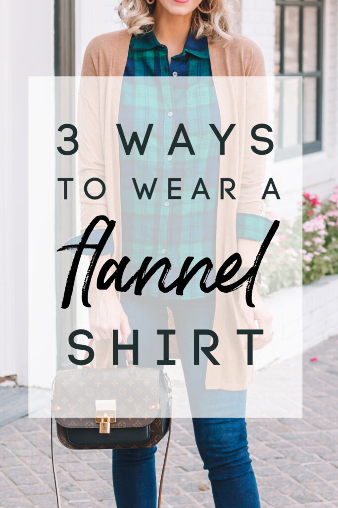 Are you a flannel shirt lover like me? Today on the blog I am sharing three ways to wear a flannel shirt. These are broad outfit ideas that will give you multiple outfit ideas and creative pairings using what you already have in your closet.