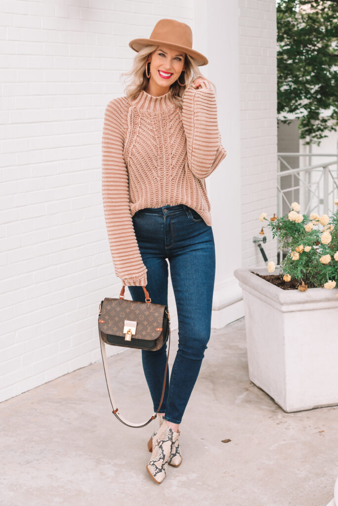I love a fun and easy sweater and boot combo for fall!