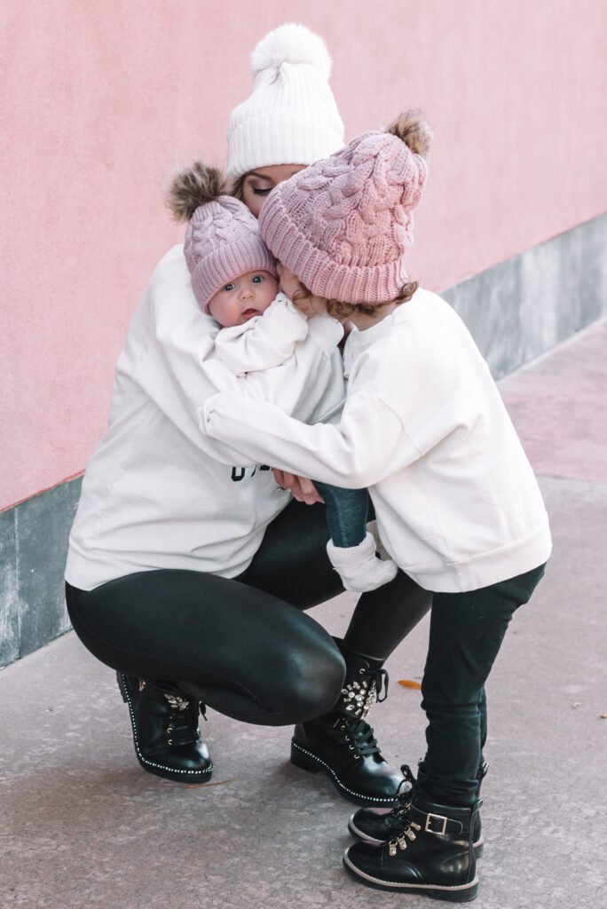 How adorable are these raising girls mommy and me sweatshirts from Ford and Wyatt?! I love twinning with my girls.