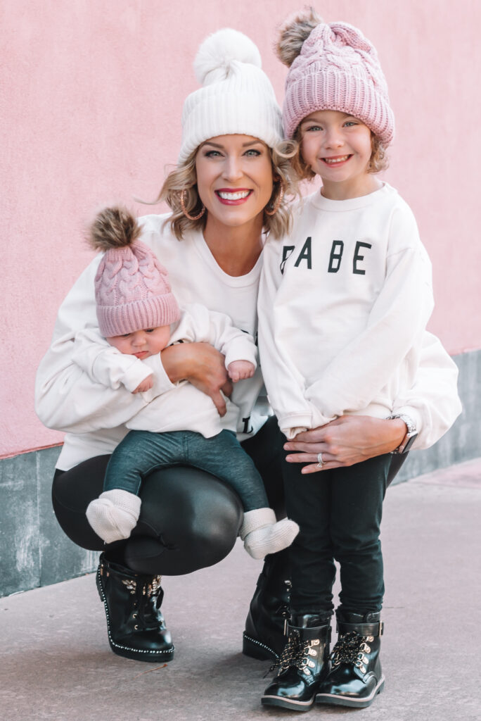 Forever twinning with my girls. I love these matching mommy and me sweatshirts.