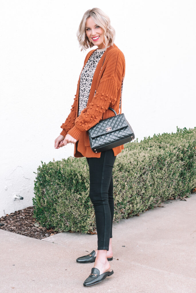 Pom pom cardigans are such a fun fall trend you can wear so many ways!