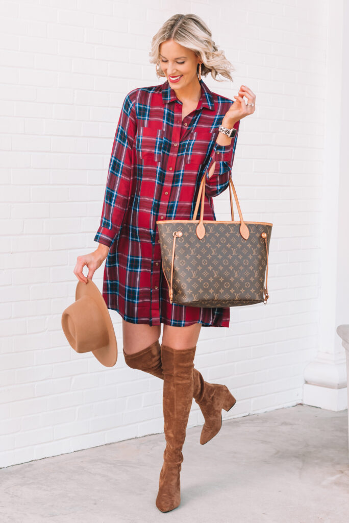 Like a flannel for fall? How about trying a dress version!