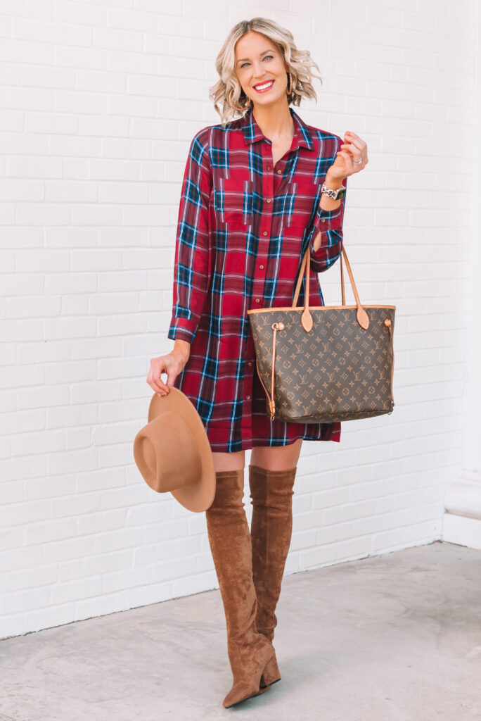 I love this plaid swing dress for fall!
