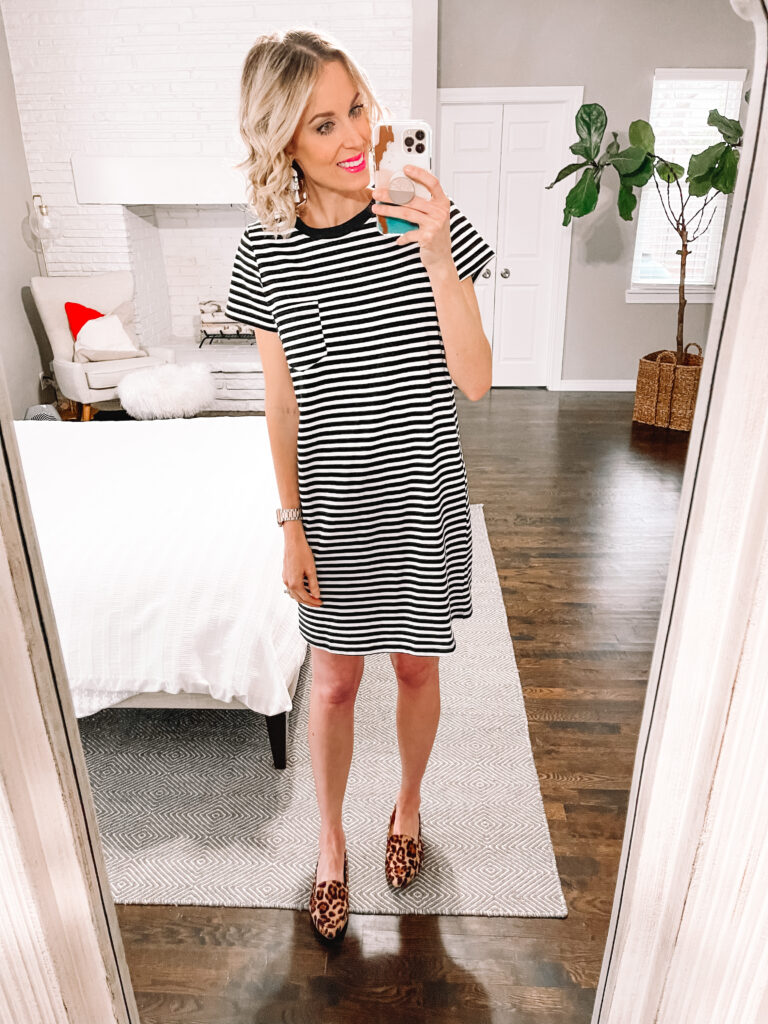 Have you been curious about Walmart clothing? Today I am sharing a Walmart try on spring clothing haul including this $10 dress and these $9 leopard flats!