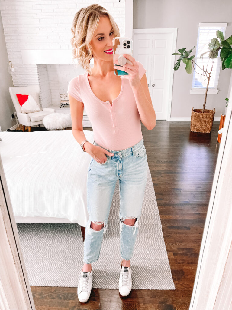 Have you wondered what the best straight leg and crop flare jeans are? In this post I am reviewing five pairs including size, price, fit, and more!