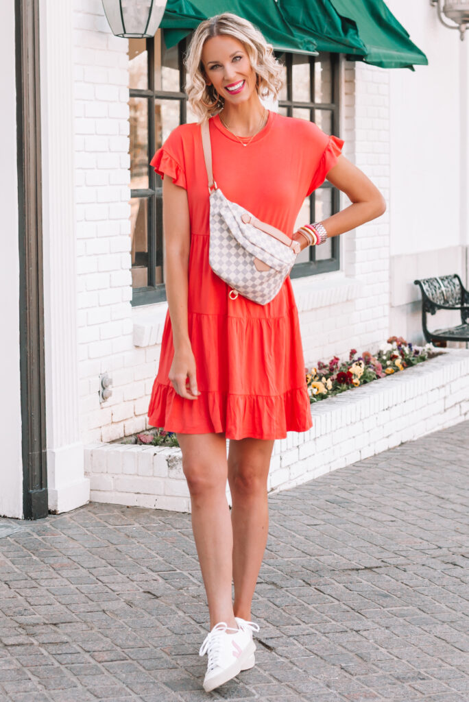 Y'all I am LOVING this $15 tiered cotton dress! It is so good. I wear things like this all summer long because it's so comfy and easy.