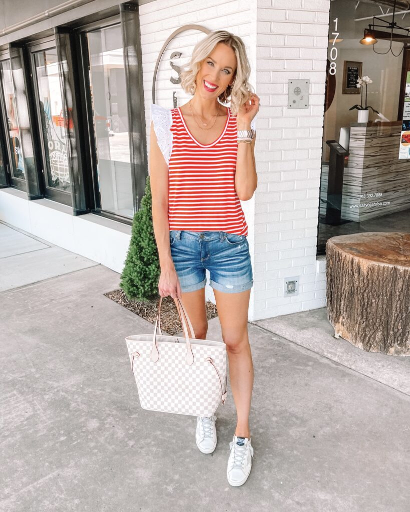 """Are you looking for the best long jean shorts that actually cover and don't break the bank? Me too! As a 5'10"""" mom of littles, I am constantly on the search for affordable, modest shorts for women. I am excited to share that I have found a few that really fit all those categories!"""