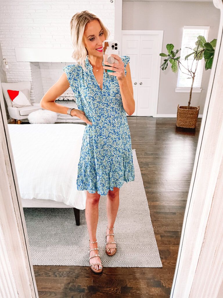 This cute blue floral dress is all part of my summer Walmart try on!