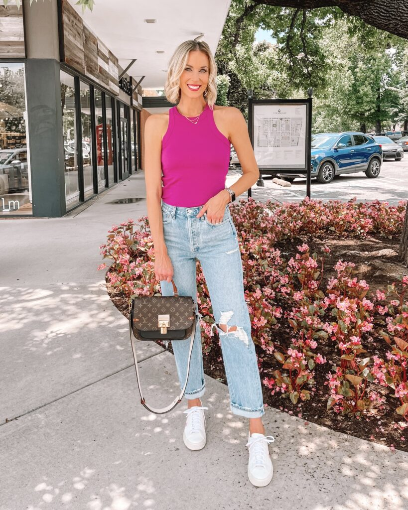 Have you wondered if Agolde jeans are worth it? I'm sharing an Agolde jeans review of the three most popular styles with my honest opinion!