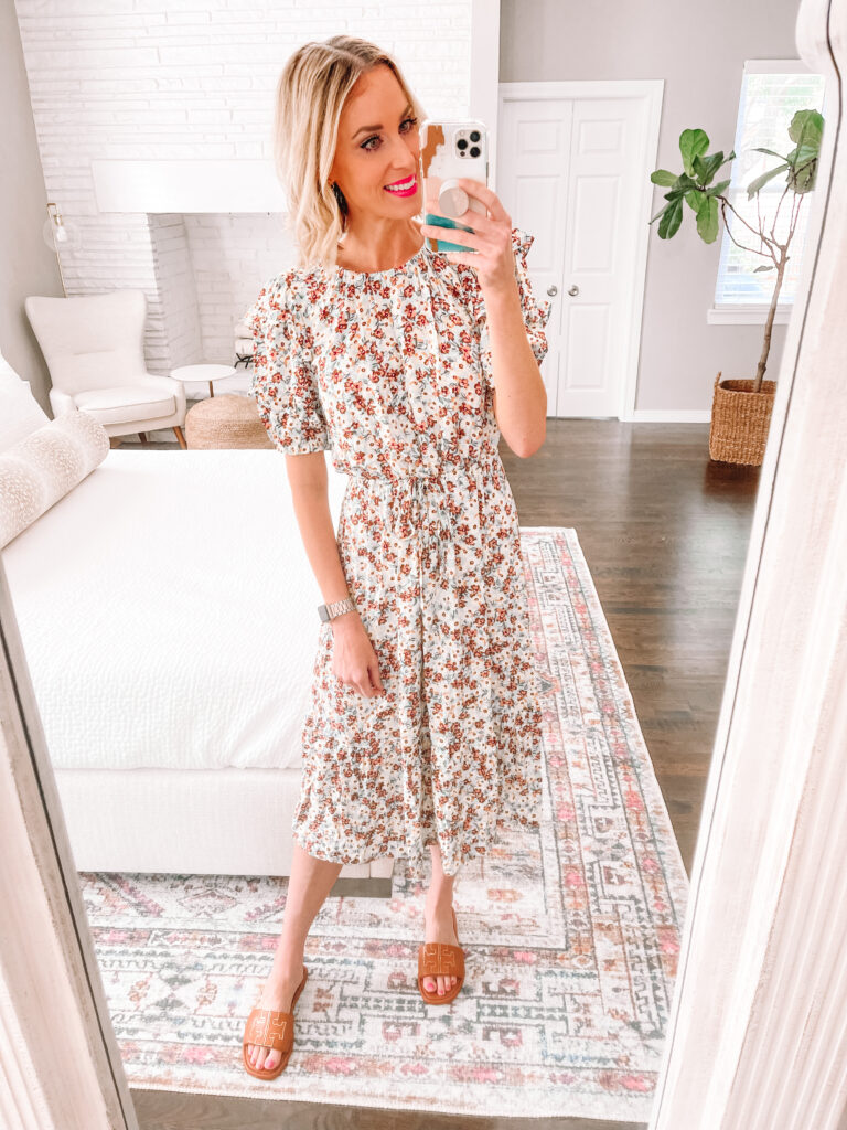 Wondering how to style a dress for now and later and what to look for when you shop so you can do it? I'm sharing how to style this adorable $33 dress for summer, fall, and winter!