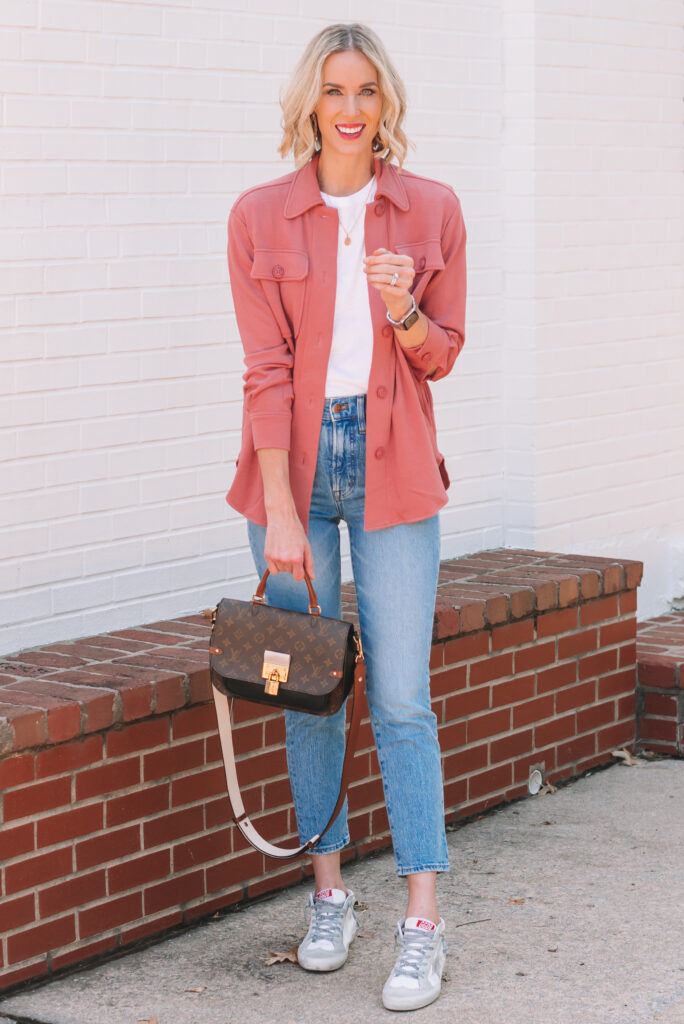 I recently got this rose colored knit shacket. It's ultra soft and comfy! If you've been on the fence about the trend, try this one!