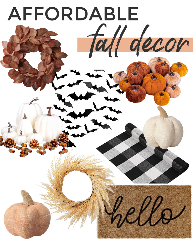 Looking for affordable fall decor? I transformed my mantle for Halloween for $50 and updated our front porch with a new fall welcome mat.