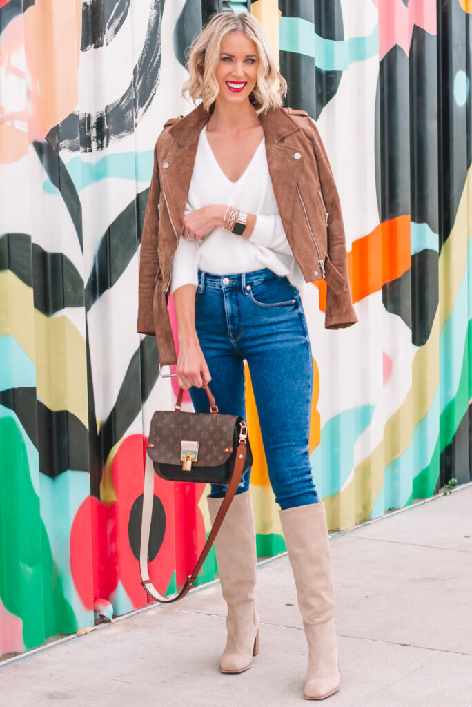 A white sweater is a wardrobe classic and today I'm sharing a white sweater for fall styled 3 ways! Each totally different and equally great!