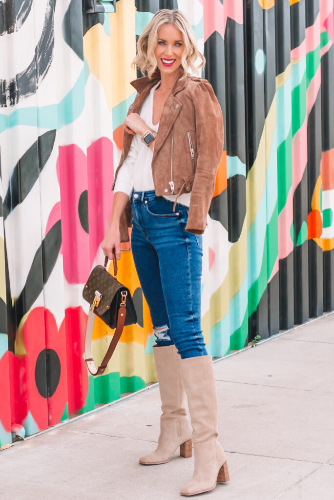 Sharing how to style a white sweater for fall 3 totally different ways on the blog today. Click to read more!