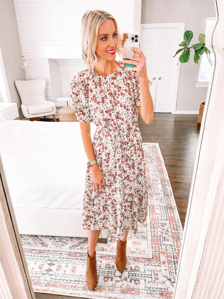 I love this fall floral dress! Perfect for family photos or other options.